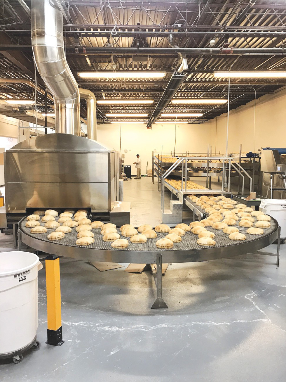 chain of production of baked goods