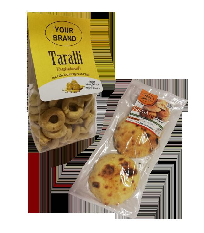 Puccia e Taralli Private Label Novoforno Altamura prodotti da forno